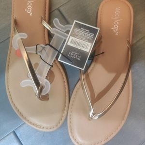 NWT rose gold sandals
